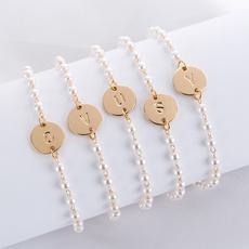 Charm Bracelet, Fashion, Pearl Bracelet, gold