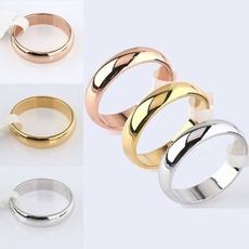 Steel, plainring, wedding ring, titanium