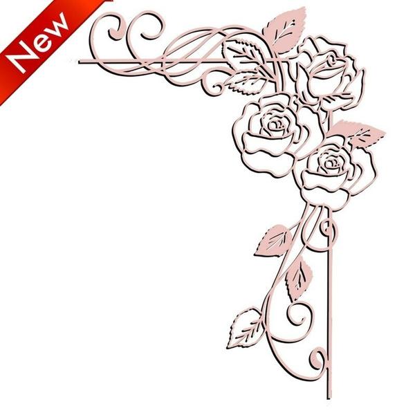 stencil, scrapbookingamppapercraft, Rose, cuttingdie