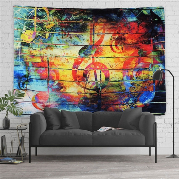 Hippie Tapestry Wall Hanging Bohemian Tapisserie Psychedelic Wall Art For Room Decor Wall Decor Wish