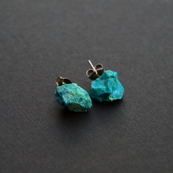 chrysocolla, quartz, Natural, Jewelry