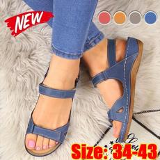 Summer, Sandals, Flats, Vintage