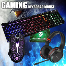 Headset, led, keyboardmouseearphoneset, keyboardmousepad