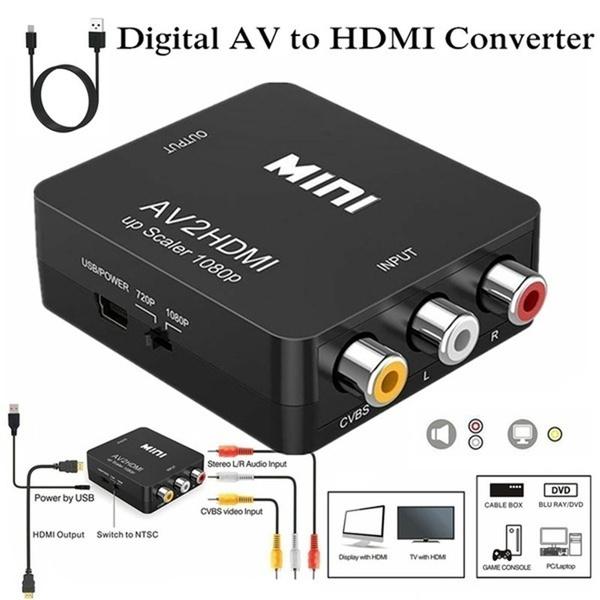 Mini, Hdmi, rcaadapter, audioadapter