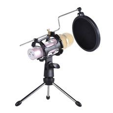 Microphone, popfilterholderstick, microphonetripodstand, microphonestandholder