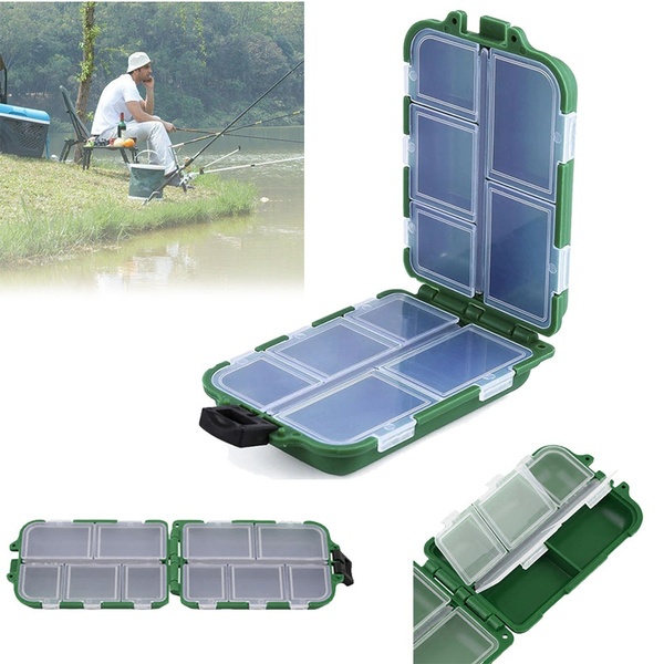Plastic Fishing Tackle Boxes Lure Container Bait Storage Case Fishhook Box Tool