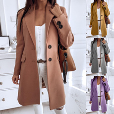 Casual Jackets, Plus Size, Spring/Autumn, Long Sleeve