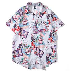 lapel, Loose, digitalprinting, Shirt