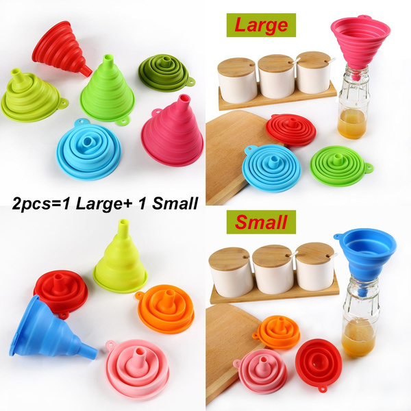Foldable, funnelhopper, Home & Kitchen, Silicone