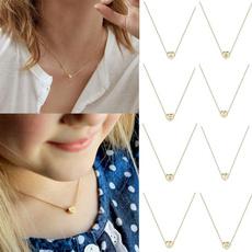 Heart, Choker, Jewelry, gold