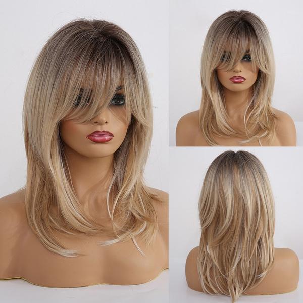 wig, naturallookingwig, straightwig, layeredhairwig