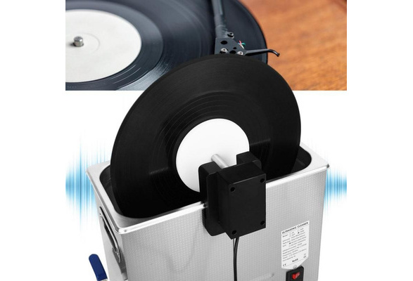 Ultrasonic Record Cleaning Machine Bracket Liftable Phonograph Disc Cleaner Rack 100-240V