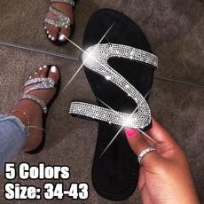 Flats, DIAMOND, Jewelry, Slippers