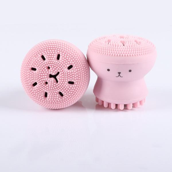 cute, facecleaner, Silicone, facialbrush