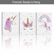 bedroom, unicornprint, Decor, Wall Art