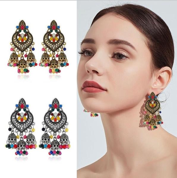 Tassels, Flowers, Dangle Earring, Jewelry