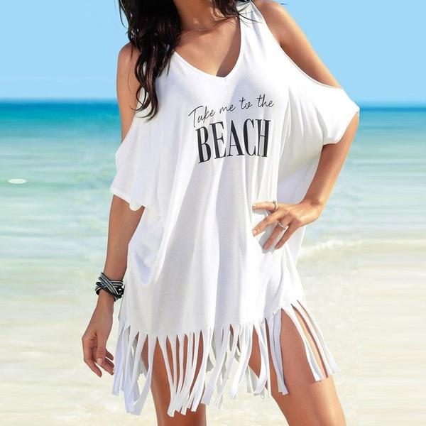 lettersprint, Summer, Tassels, Bikini swimwear