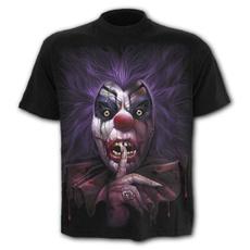 Goth, mensstreetwear, 3dprintedtshirt, short sleeves