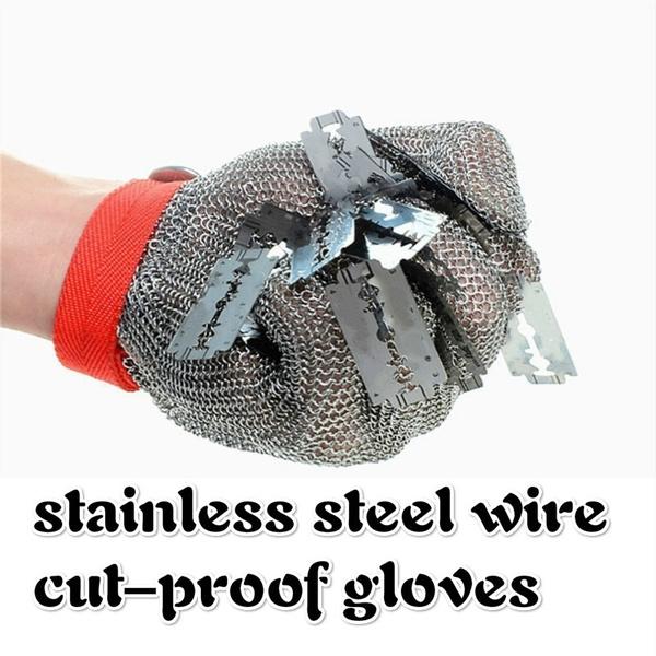 Steel, metalsafetyindustrialglove, cutresistantglove, Stainless Steel