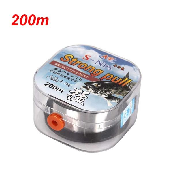 Monofilament Fishing Line Fluoro Carbon Elastic Thread Spool Polyester Bait