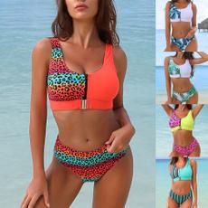 Summer, Woman, bikini set, Beach