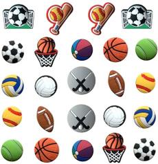 Football, Basketball, shoecharmsforcorc, ibbitzshoescharm