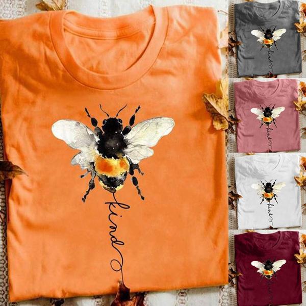 honeybeeshirt, Plus Size, Cotton T Shirt, Gifts