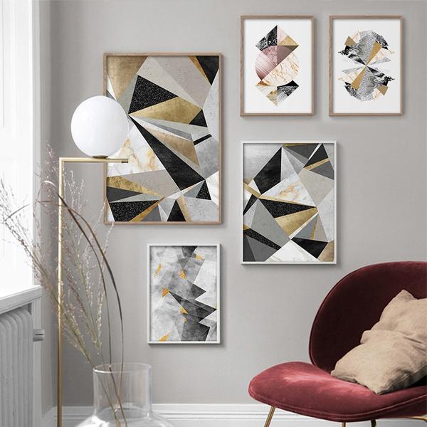 bedroom, Decor, art, Abstract