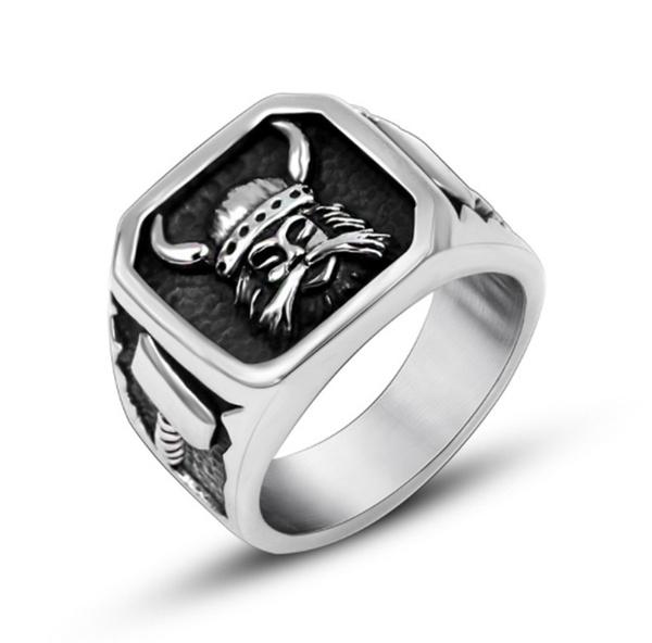 viking, bikerring, Stainless Steel, Jewelry