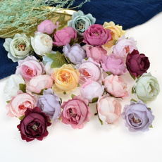 Head, Flowers, peony, Rose