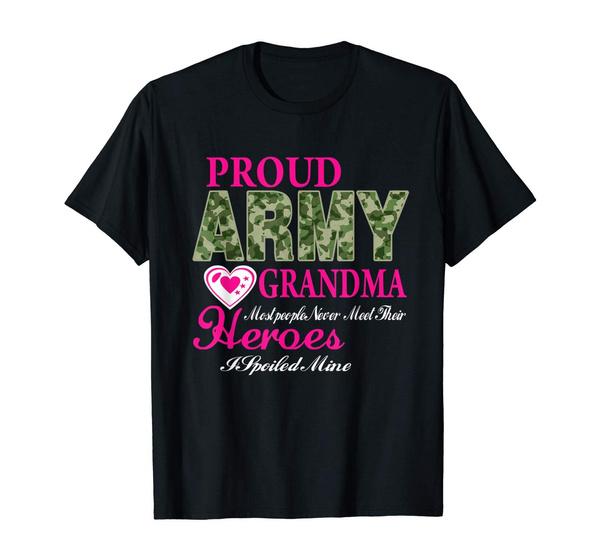 grandmafamilyshirt, Army, nana, T Shirts