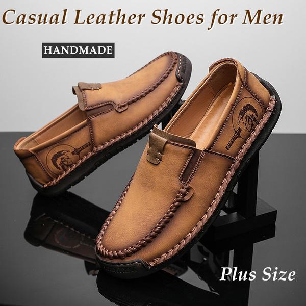 leatherflatshoe, Summer, Plus Size, leatherloafer