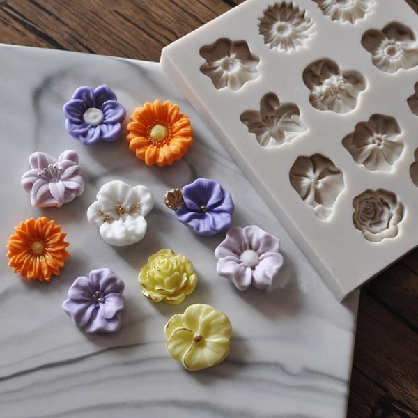 caketool, Flowers, Sunflowers, Silicone