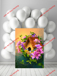 gicleepainting, art, happyfamily, Family