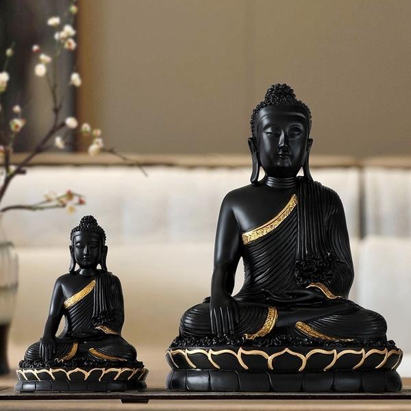 smokebackflowcenser, Statue, buddhiststatueincenseburner, Home & Living