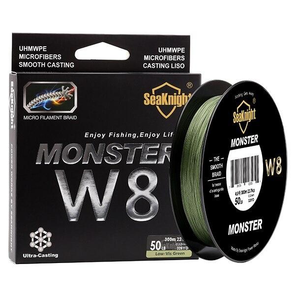 monsterw8, MONSTER, multifilamentfishingline, 8strandsbraided