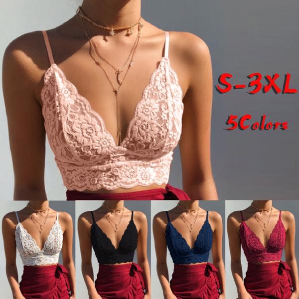 sexy bra, Plus Size, crop top, Lace