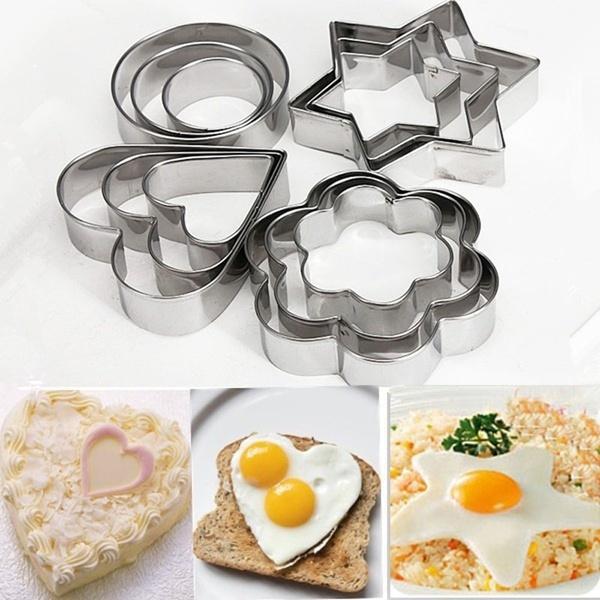 Steel, Heart, caketool, Flowers
