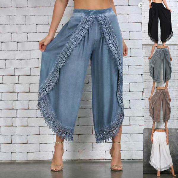capripant, harem, Lace, Casual pants