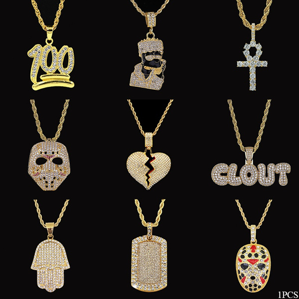 maskpendant, hip hop jewelry, Jewelry, Gifts