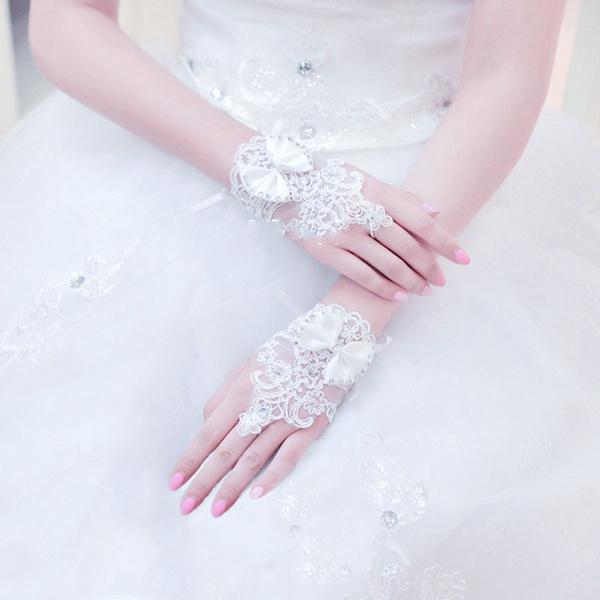 weddingparty, fingerlessglove, Bridal, crystalglove