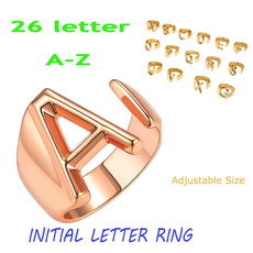 Couple Rings, initialring, Fashion Accessory, letterring