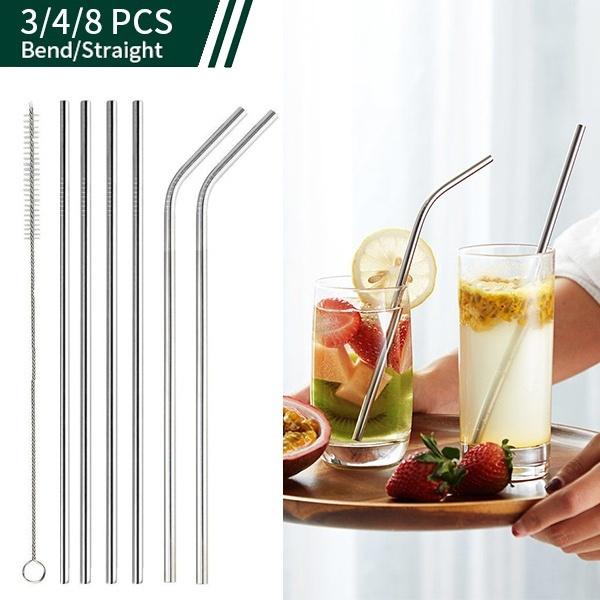 Steel, dringking, juicestraw, straw