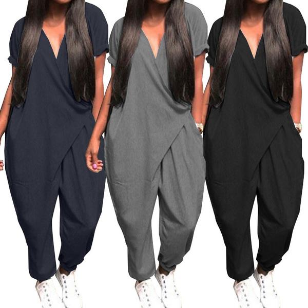 Fashion, pocketjumpsuit, Necks, Sleeve