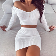 Fashion, crop top, Necks, Long sleeved