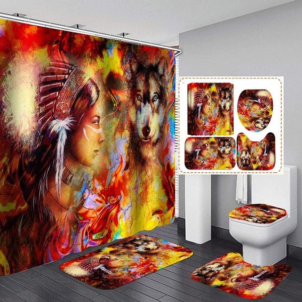 Bath, Shower, bathroomrugset, fashionshowercurtain