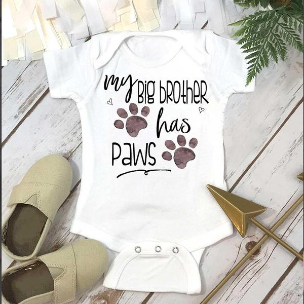 mybigbrotherhaspaw, toddlerromper, Fashion, baby clothing