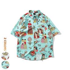 lapel, cardigan, Shirt, European And American Fashion