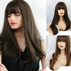 wig, Dark, Natural, brown