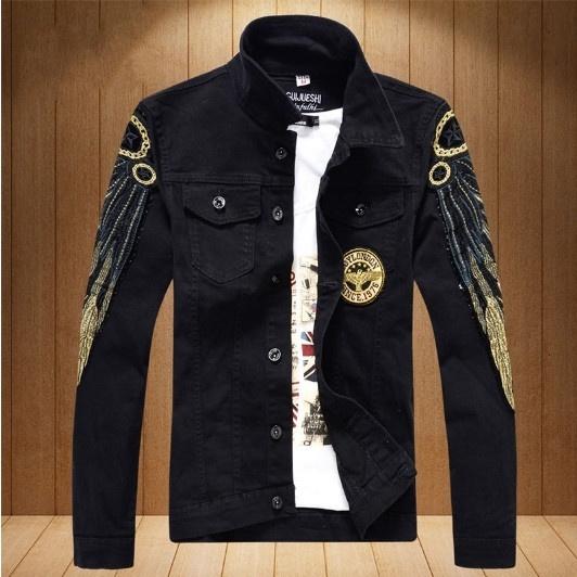 Fashion, Coat, mensinglebreastedjacket, mendenimjacket